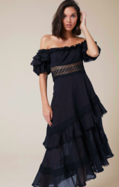 CHARO RUIZ CARMEN DRESS BLACK