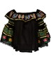 PARIS PICKED BUTTERFLY OFF SHOULDER BLACK TOP