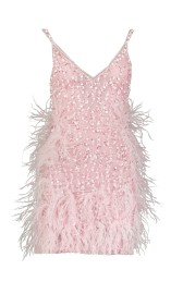 PARIS PICKED PARTY DRESS FROM FEATHERS | PINK