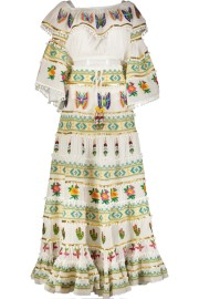 PARIS PICKED OFF SHOULDER BUTTERFLY SET CROP TOP AND LONG SKIRT | WHITE