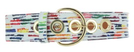 MAISON BOINET RAINBOW LEATHER & BRASS BELT