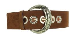 MAISON BOINET SUEDE CALFSKIN CORSET BELT Width:60 mm CIGAR