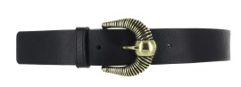 MAISON BOINET LEATHER & BRASS BELT BLACK