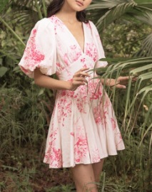 HEMANT AND NANDITA BRIE MINI DRESS
