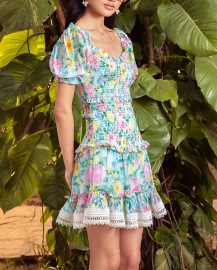 HEMANT AND NANDITA AZALEA SHORT DRESS