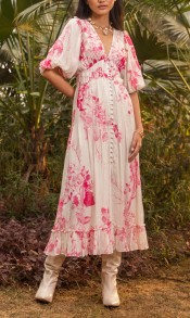 HEMANT AND NANDITA BRIE BOHEMIAN CHIC DRESS