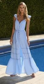 MELISSA ODABASH  ALANA CORNFLOWER SHORT DRESS