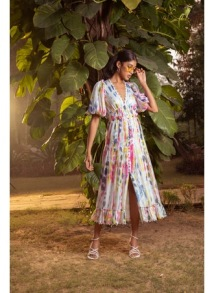 HEMANT AND NANDITA JORAH MIDI DRESS