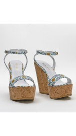 MUSA LONDON DESIGNER CORK WEDGE SANDAL