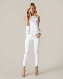 7 FOR ALL MANKIND CROPPED PYPER ILLUSION PURE WHITE