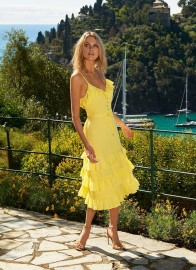 MELISSA BETHAN FRILL YELLOW DRESS