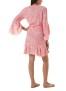 MELISSA ODABASH KIRSTY TROPICAL CORAL SHORT DRESS