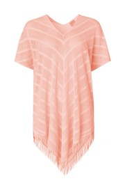 PAULA PERFECT PONCHO COVER UP PEACH