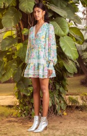 HEMANT AND NANDITA AZALEA SHORT DRESS LONG SLEEVES