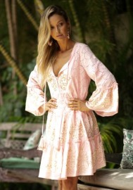 MISS JUNE DREAMER DRESS PEACH