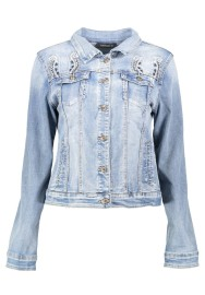PARIS STRETCH DENIM JACKET |WESTERN EMBROIDERY & BEADING