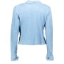 SALVATORE SANTARO SUEDE JACKET/SHIRT ULTRA THIN & SOFT BABY BLUE