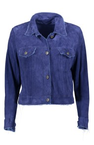 SALVATORE SANTARO SUEDE JACKET ULTRA THIN & SOFT ROYAL BLUE