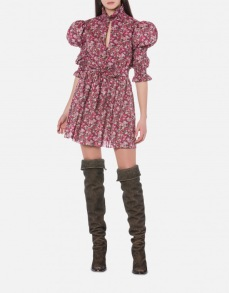 PHILOSOPHY DI LORENZO SERAFINI WILDFLOWER LIBERTY FLORAL PRINT MINI DRESS