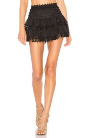 CHARO RUIZ GRETA SHORT SKIRT BLACK