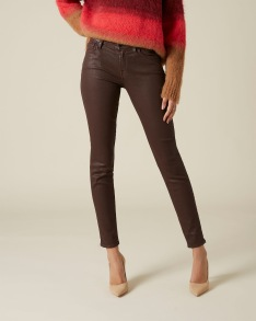 7 FOR ALL MANKIND THE SKINNY COATED SLIM ILLUSION MULBERRY