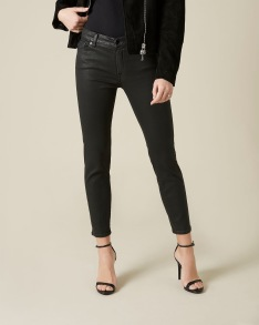 7 FOR ALL MANKIND ROXANNE ANKLE COATED SLIM ILLUSION BLACK