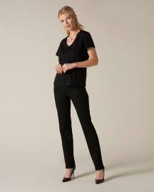 7 FOR ALL MANKIND STRAIGHT B(AIR) RINSED BLACK