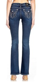 MISS ME CHLOE BOOT CUT MID BLUE