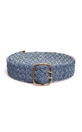 PHILOSOPHY DI LORENZO SERAFINI DENIM WOVEN BELT