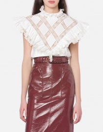 PHILOSOPHY DI LORENZO SERAFINI OXFORD LACE TOP