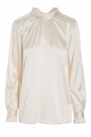 DEA KUDIBAL EMMI SILK SATIN STRETCH BLOUSE LECHE
