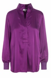 DEA KUDIBAL KATE SILK STRETCH BLOUSE GRAPE