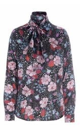 DEA KUDIBAL MORGAN SILK STRETCH BLOUSE FLOWERFIELD