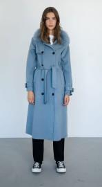 MEOTINE MARTE COAT BLUE