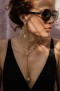 SHOUROUK CHAPELET GOLD PLATED CHAIN & PEARL NECKLACE