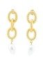 SHOUROUK GOLD COBRA CHAIN WITH PEARL EARRINGS
