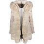 FLO & CLO BELLISIMA DOWN COAT WITH FOX COLLAR LIGHT BEIGE