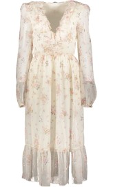 PHILOSOPHY DI LORENZO SERAFINI SILK FLORAL RUFFLE DRESS