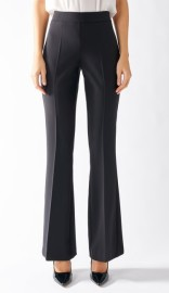 RINASCIMENTO BOOT CUT SMART TROUSERS BLACK