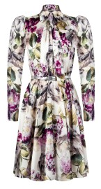 RINASCIMENTO  FLORAL DRESS WITH NECK TIE