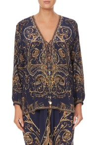 CAMILLA SILK LACE UP BLOUSE 7 DAY WEEKEND