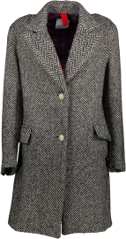 HISTORY REPEATS EMBOIDERED AMORE WOOL BLAZER COAT