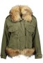 HISTORY REPEATS FUR LINED PARKA WITH FOX COLLAR AMORE EMBROIDERY