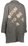 HISTORY REPEATS WOOL CAPE STYLE COAT WITH VELVET EMBROIDERE TEXT AT BACK