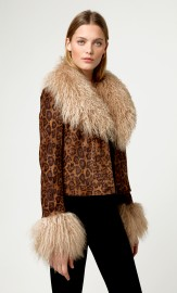 CHARLOTTE SIMONE PENNY COAT SHORT FAUX SUEDE + LAMBSWOOL