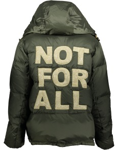 HISTORY REPEATS DOWN JACKET WITH EMBROIDERED BACK