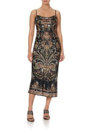 CAMILLA SILK LONG BIAS SLIP DRESS