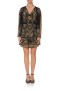 CAMILLA SILK SHORT DRESS WITH DRAPED SLEEVE STUDIO 54