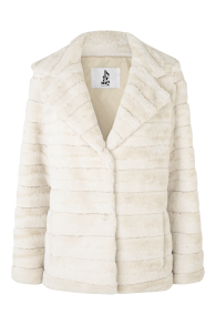 BYDREAMS PHILIPPA FAUX FUR SHORT JACKET CREAM WHITE