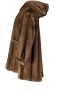 LEVINSKY HOODED MINK COAT ECO SUSTAINABLE FUR